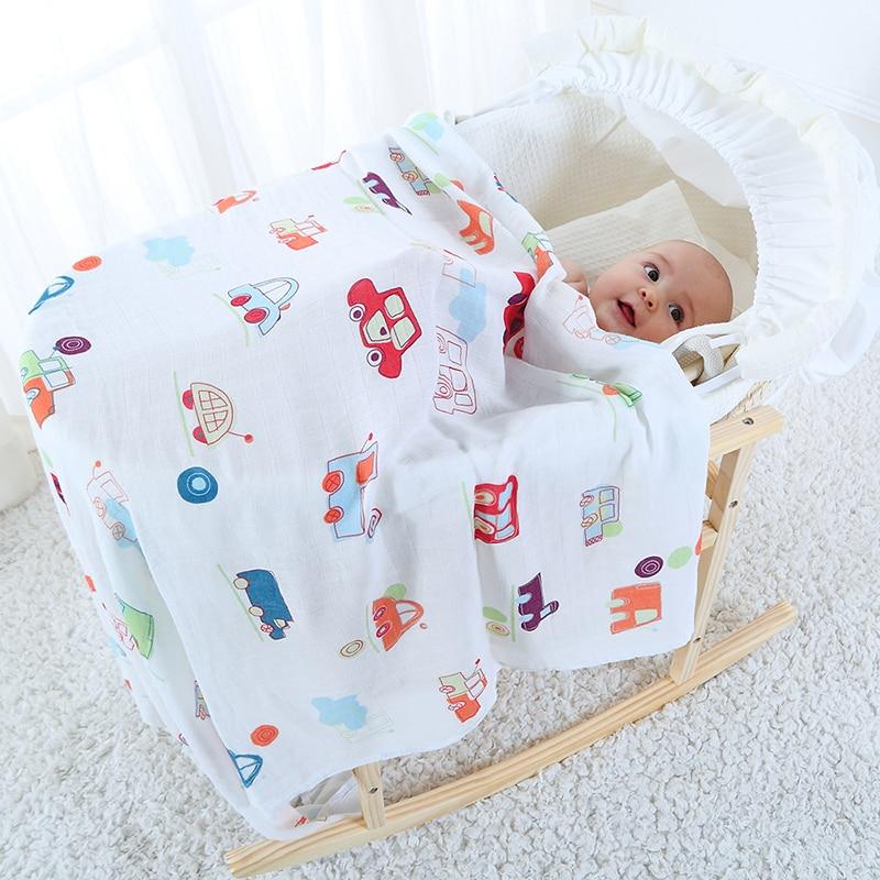 Baby Deken Voor Kid Super Zachte Katoen Bamboe Mousseline Inbakeren - Beddegoed - Foto 1