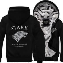 Game of Thrones hoodies Men Stark winter fleece sweatshirt A Song Ice and Fire Winter Is Coming jacket 2016 zipper tracksuits