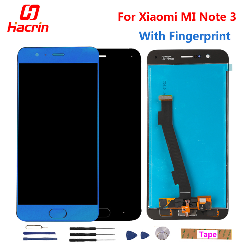 For Xiaomi Mi Note 3 LCD Display Touch Screen 5 5 FHD Test Good Digitizer Assembly