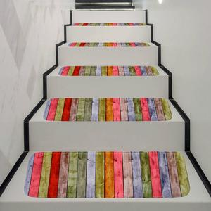 Image 3 - Washable Non slip Stair Treads Stair Carpet Tread Stair Rugs Dirt proof Rubber Backing Stair Carpets for Home Office