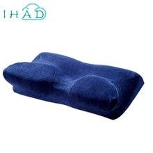 NUEVO diseño 4D mariposa almohada protección Del Cuello Almohada de Espuma de Memoria Lenta recuperación Cuello Ortopédico Cervical Cuidado de La Salud de Almohadas de Espuma