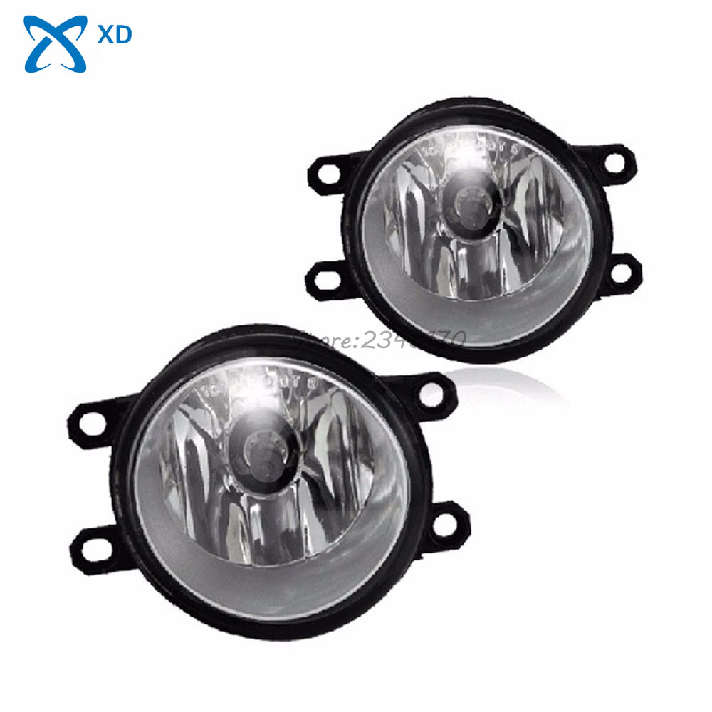 High quality Fog lights For Toyota Corolla RAV4 Camry Yaris Highlander Driving Lamps with bulb LH + RH One Pair Free shipping fit for 02 08 toyota solara camry corolla oe fog light smoke lamps wiring kit included usa domestic free shipping hot selling