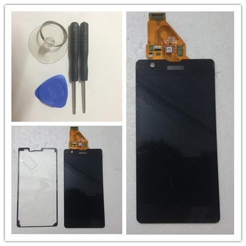 Negro pantalla lcd para sony xperia zr m36h c5502 c5503 pantalla táctil con la asamblea del digitizador + herramientas de apertura + envío gratuito