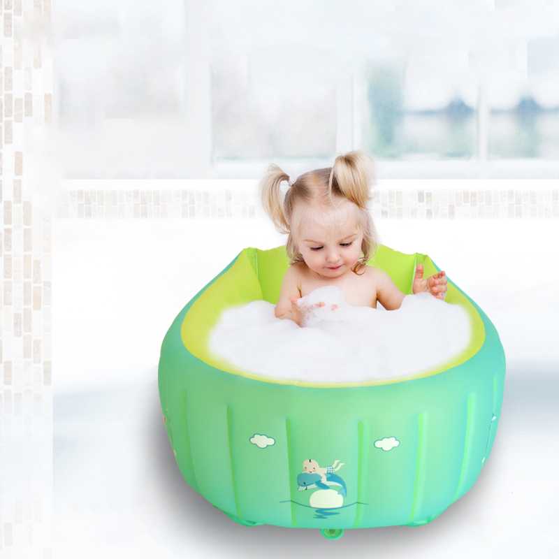 New Large Portable Folding Kids Child Bathtub Inflatable