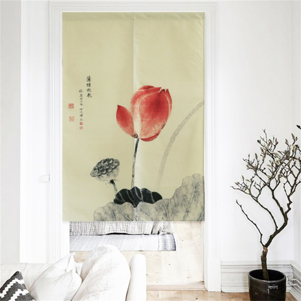 XIAOKENAI 85x160cm 85x150cm Traditional Chinese Decorative Door Curtain Doorway Curtains Home Decor Divider For Bedroom Kitchen in Curtains from Home Garden