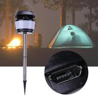Solar USB Powered LED Light Camping Garden Outdoor Mosquito Repelling Lamp