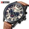 Curren Relógio de Pulso Cronógrafo Dos Homens Relógios Top Marca de Luxo Famoso Relógio Masculino Relógio De Quartzo-relógio de Quartzo Relogio masculino saat