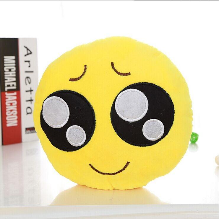 Smiley Kissen 2015 QQ Gesicht Emoji Dekorative Kissen 3D Gelb Trauer ...