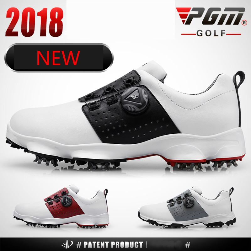 2018 new PGM golf shoes men's waterproof Breathable antiskid shoes shoelaces sports shoes spiked shoes
