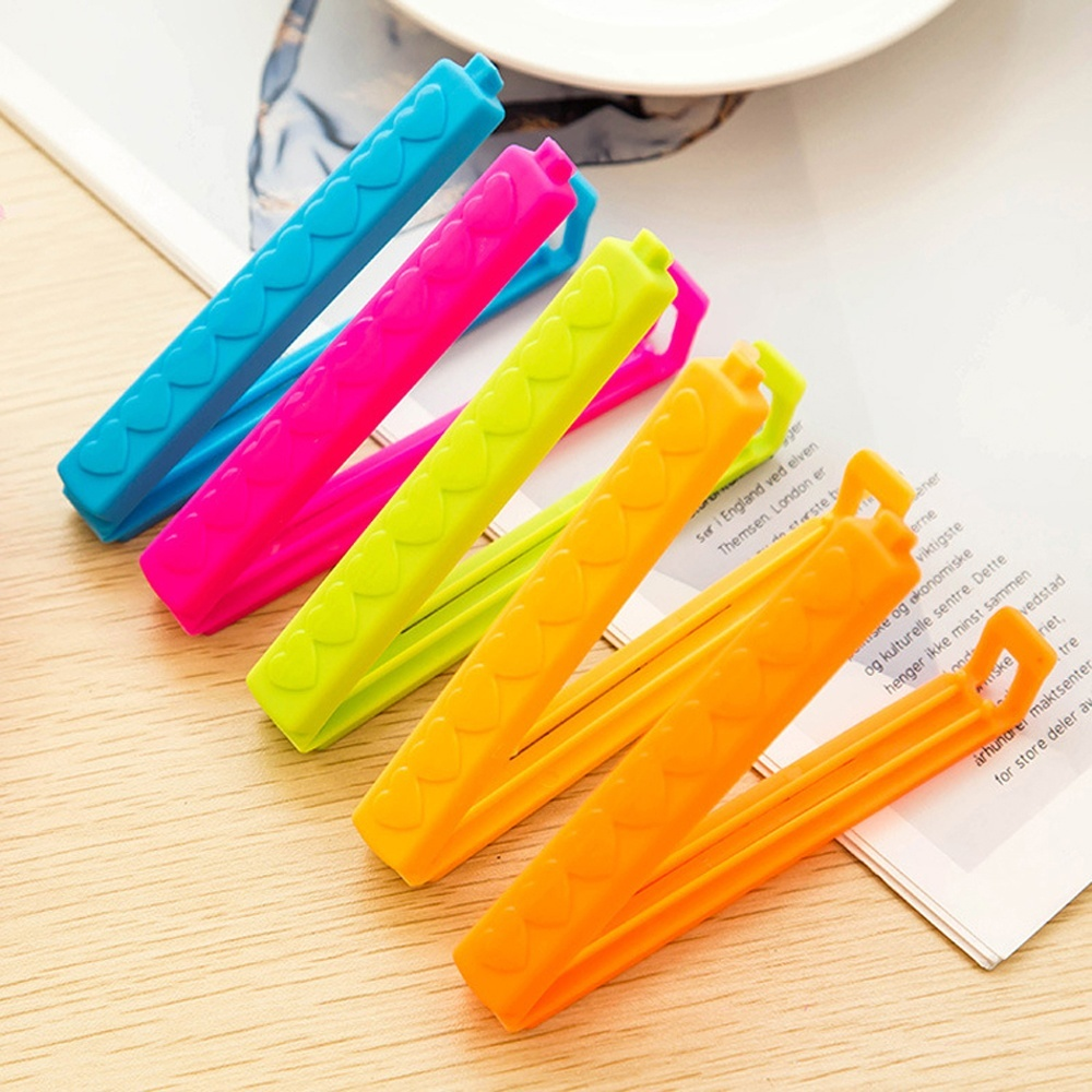 Plastic bag clips - 5 Pcs Convenient Food Snack Bag Storage Sealing Clips Seal Clamp Plastic Bags Clip Home Food