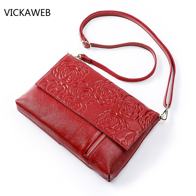 2018 new women shoulder bag floral small messenger bags real leather lady clutch luxury brand handbag genuine leather bag floral leather shoulder bag women pu leather handbag retro female small messenger bag for girls clutch shoulder bags bolsa