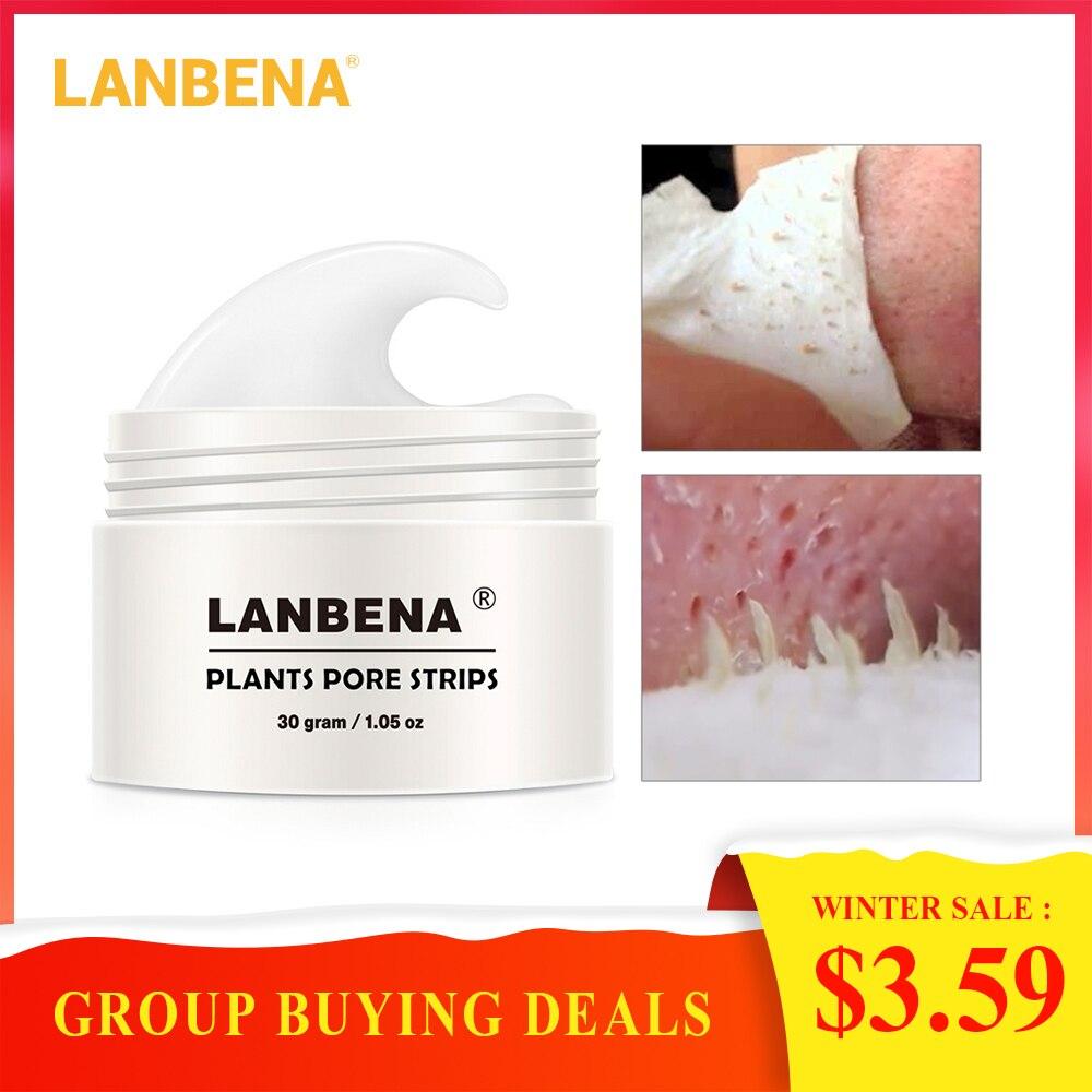 2018 חדש סגנון LANBENA חטט מסיר האף נקבובית רצועת שחור מסכת קילוף אקנה טיפול שחור עמוק ניקוי טיפוח עור