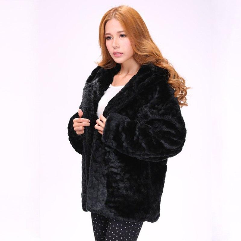 le dernier e4bfe 7bc92 € 39.76 33% de réduction Femmes noir Faux vison manteau de fourrure à  capuche pour chaud hiver épais fausse fourrure veste avec capuche grande  taille ...