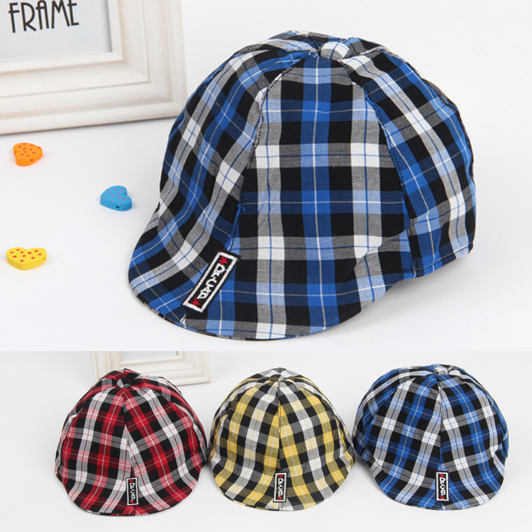 f35f85e58c3e3 Plaid Baby Berets Kids Hats Caps Child Pretty Sun Hats Boy Girl Hats For 2016  Spring and Autumn Free Shipping-in Hats   Caps from Mother   Kids on ...