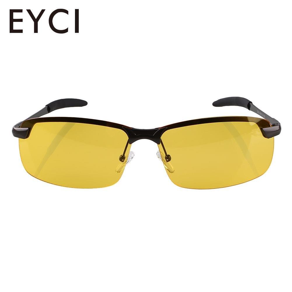 7d36ba866 Homens Noite Óculos de Visão de Condução Anti Glare Polarizada Motorista  óculos de Sol Amarelo