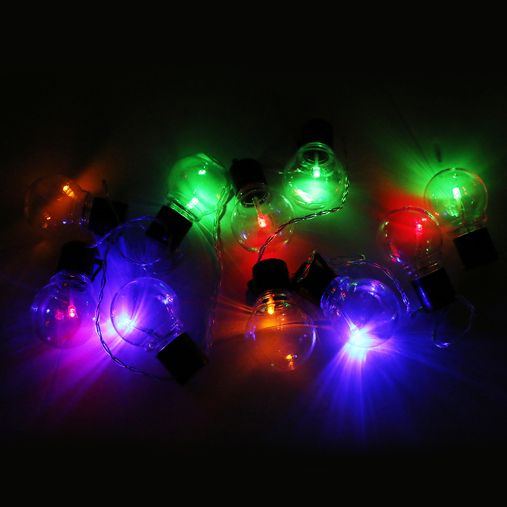 10 Led Waterproof Lantern Solar Lamps Holiday Garden Xmas Ball Fairy Led String Lights Christmas Outdoor Lighting