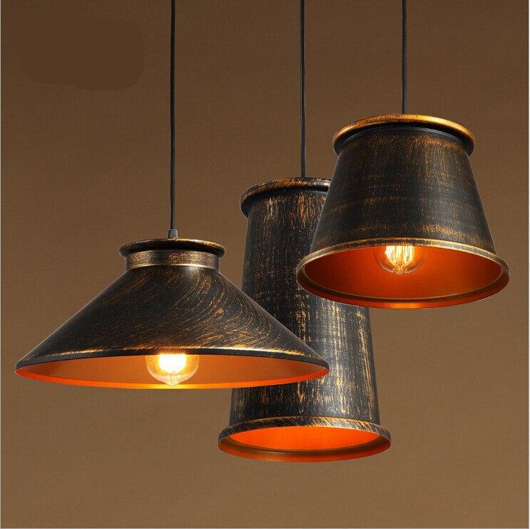 цена  vintage loft American country style iron led e27 pendant light for living room dining room AC 90-265V 1975  онлайн в 2017 году