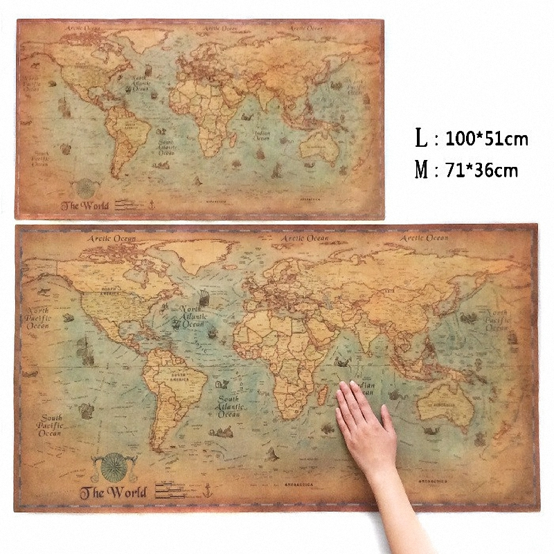 Choose size the old navigation world map huge large vintage style choose size the old navigation world map huge large vintage style retro paper poster home wall decoration twm 002 freeshipping in painting calligraphy gumiabroncs Image collections