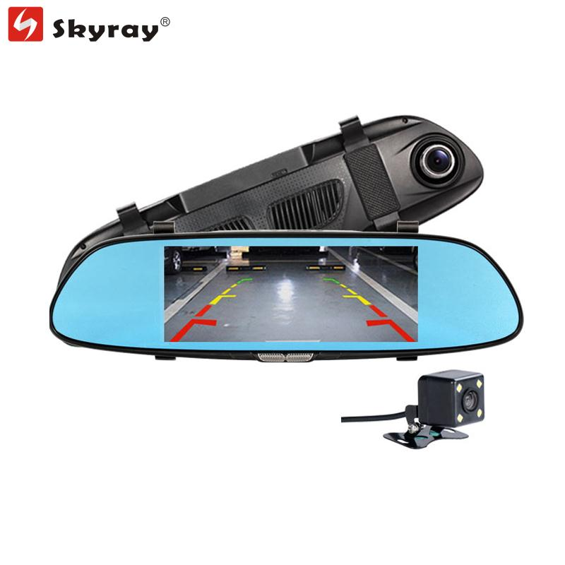 6.5 Rearview Mirror Car DVR 140 Degree HD 1080P Dash Cam Loop Recording Camcorder Rear Camera with Reverse Video Parking Lines plusobd car recorder rearview mirror camera hd dvr for bmw x1 e90 e91 e87 e84 car black box 1080p with g sensor loop recording