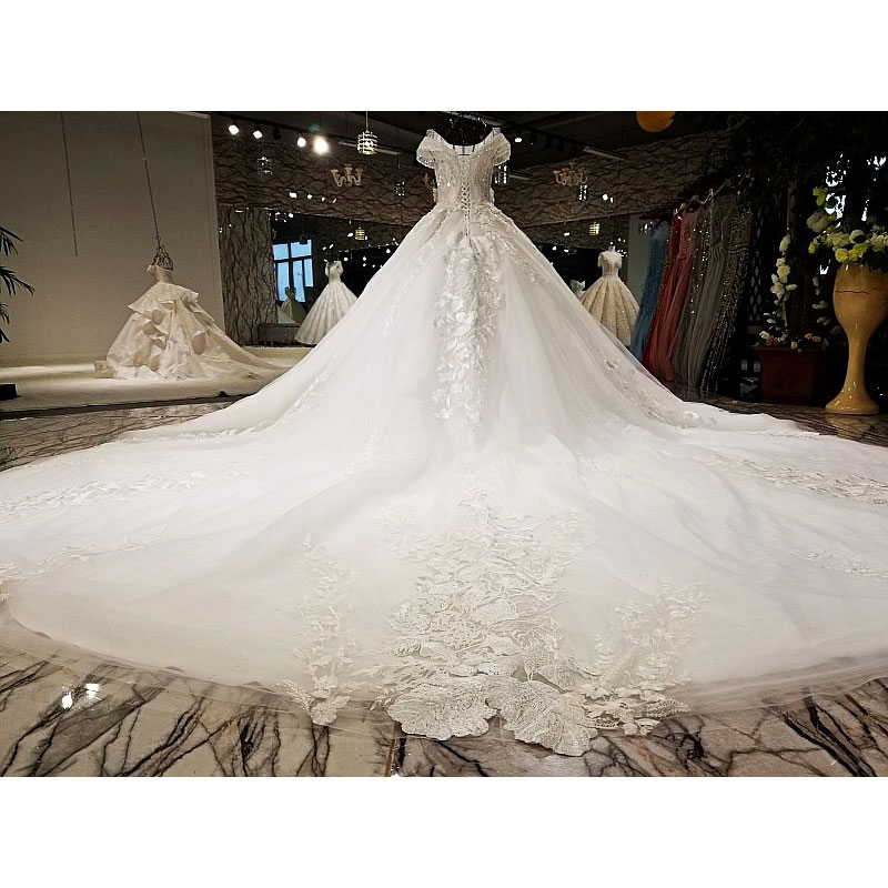 AIJINGYU Trouwjurken Collectie Eenvoudige Bruidsjurken Ivoor Beste Sexy Goedkope Uk Gown Plus Size Moslim Trouwjurk - 5
