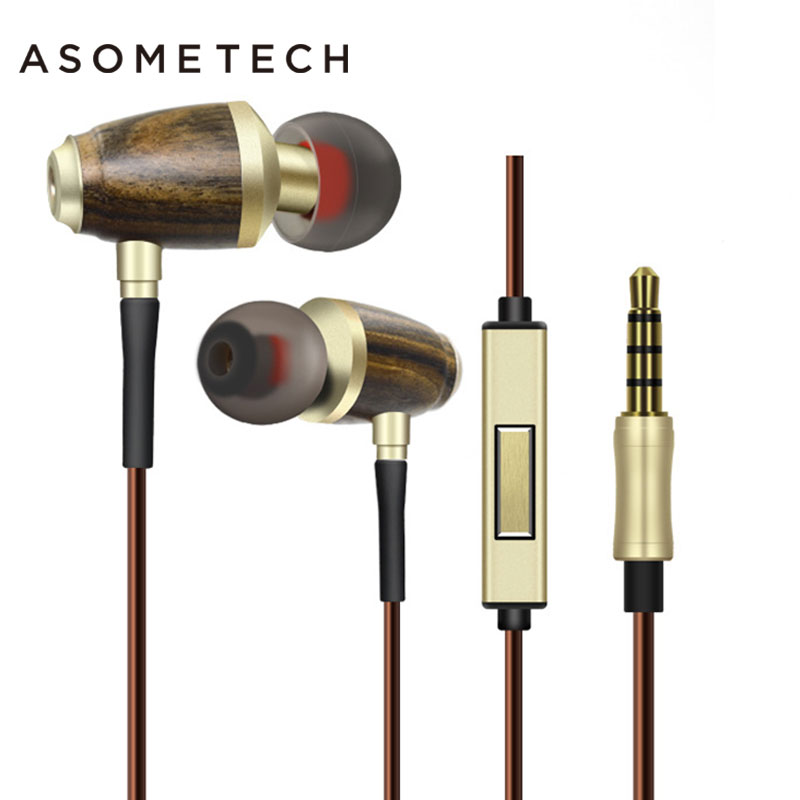 где купить High End Bamboo Headset In Ear 3.5mm Wire Original Wood Earphone Wooden Bass Music HIFI Earbuds Earpieces For iPhone 5 6 дешево
