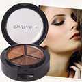 Smoky Cosmetic Set 3 Colors Natural Matte Eye Shadow Palette Naked Nude Glitter Makeup