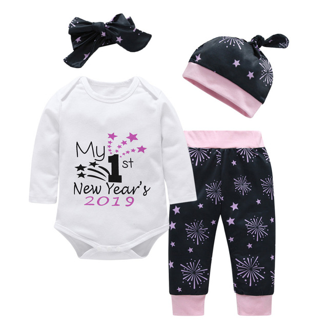 ad3eada40 Romper Jumpsuit Outfits Kids Toddler Baby Girls Boys Clothes Sets Long  Sleeve Letter My First Christmas Halloween Custome Outfit