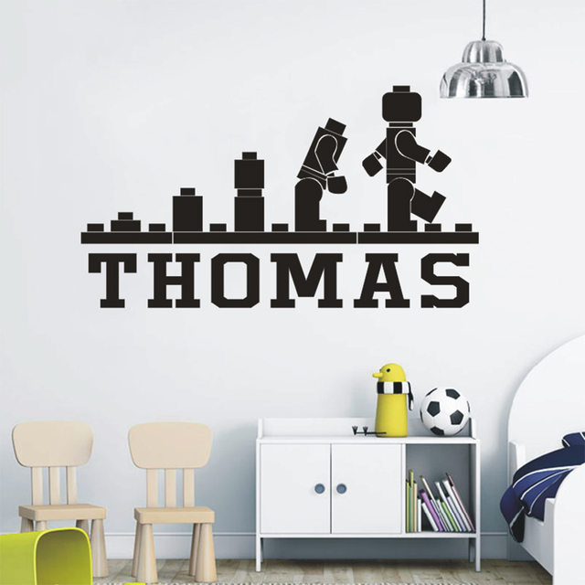 lego games fun wallpaper personalized name wall decals kids' bedroom
