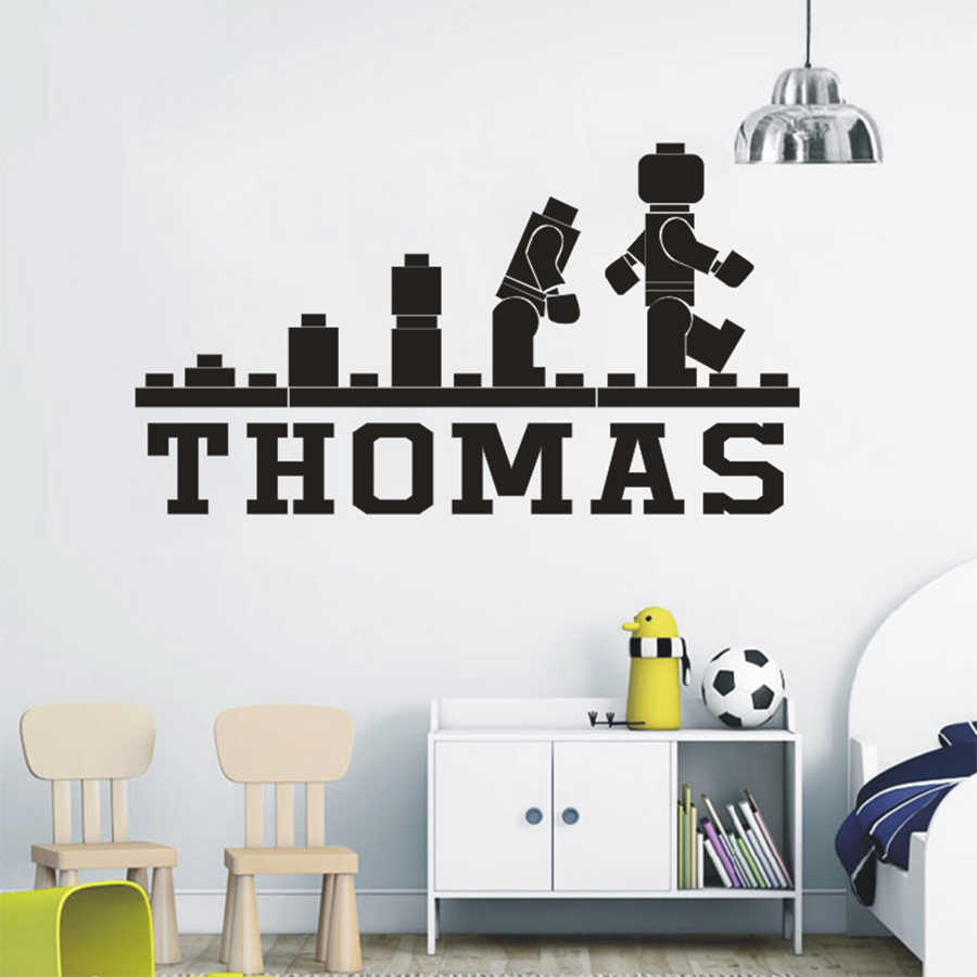 Detail feedback questions about lego games fun wallpaper personalized name wall decals kids bedroom vinyl stickers cartoon games mural children wall art