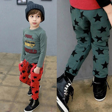 New Toddler Kids Boys Cotton Pants Star Pattern Harem Trousers Sports Pants for Boys 6M-4Y Bottoms New LS4
