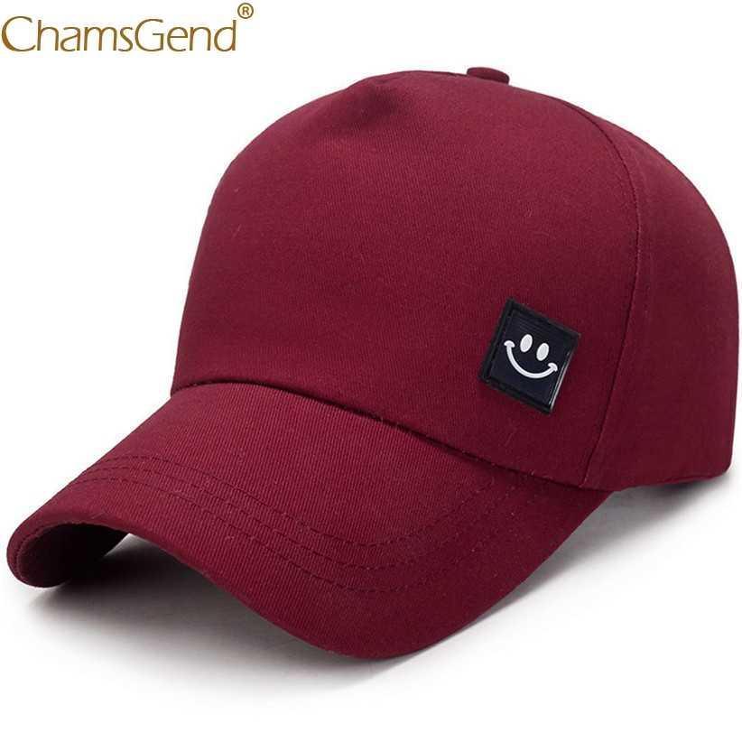 ยิ้มFaceของแข็งฤดูร้อนหมวกUnisexผู้หญิงผู้ชายเบสบอลหมวกSnapbackสะโพกHop Streetwear Visorsเบสบอลหมวก 90214