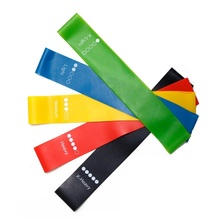 цена 5 Colors Yoga Resistance Rubber Bands Fitness Strength Training Workout Expander Rubber Loop Latex Gym Pilates Yoga Elastic Band онлайн в 2017 году