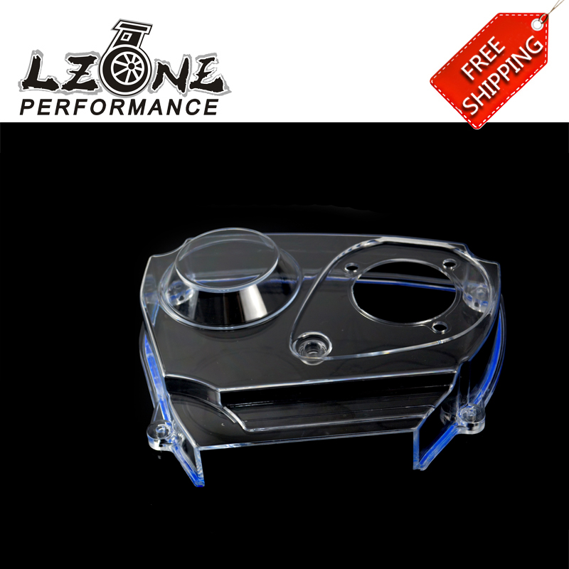LZONE RACING - FREE SHIPPING For NISSAN Skyline R32 R33 GTS RB25DET Clear Cam Gear Timing Belt Cover Pulley JR6339  free shipping light weight crank pulley new for nissan skyline gtr bnr32 rb26 dett rb20 rb25 underdrive crank pulley yc100829