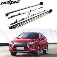 Подходит для Mitsubishi Eclipse Cross 2018 2019 ног доска боковой бар ходовая доска педали. утолщаются алюминиевый сплав. Азия Бесплатная доставка.