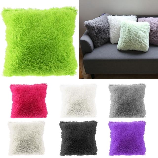 Soft Plush Faux Fur Cushion Covers Home Decorative Cover Throw Pillows For Sofa Car Chair