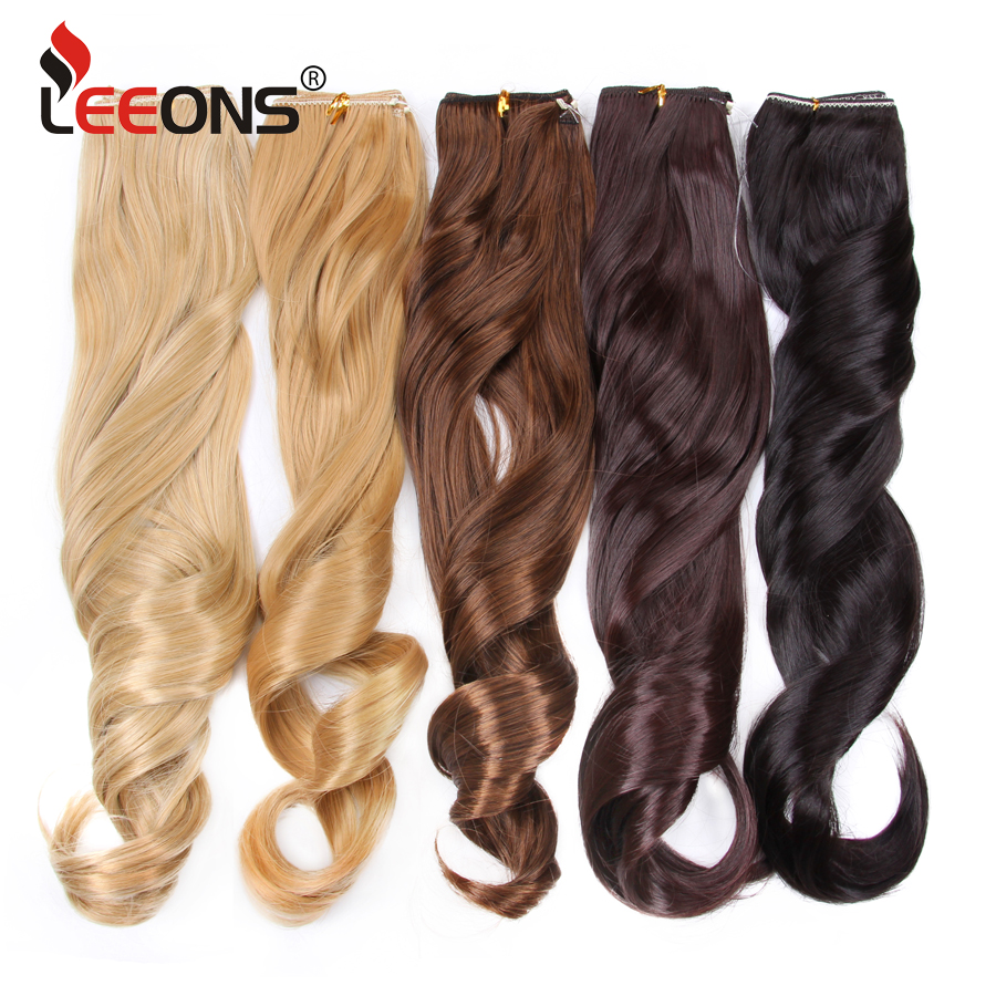 Hot Sale Leeons 22 Inch Long Red Hair Wavy Hair Extensions Invisible