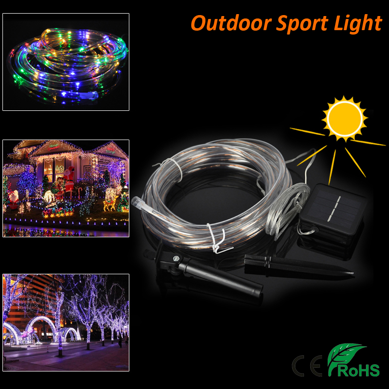 7M Waterproof Decorative Solar Christmas Lights 50 LED Fairy String lamp for <font><b>Outdoor</b></font> Wedding new year Party Lighting Solar Rope