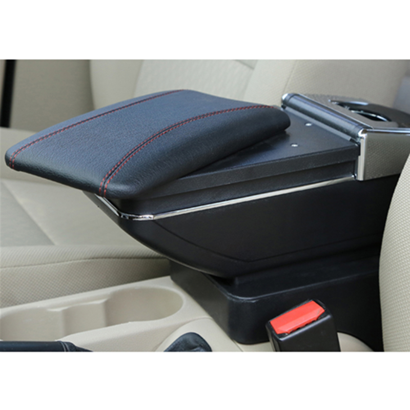 For Mercedes-Benz Smart 2009-2018 Car Armrest Box Central Console Arm Rest Box Cup Holder Ashtray Car Styling Seat Armrests