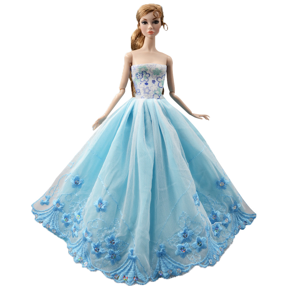 NK One Pcs Handmade Princess Wedding Dress Noble Party
