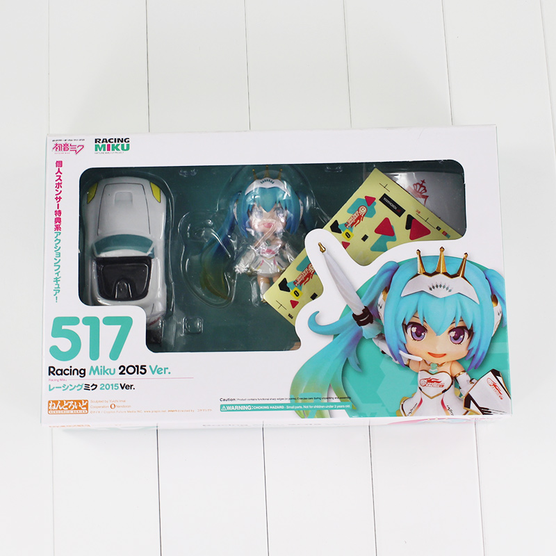 Selfless Nendoroid Hatsune Miku Racing Miku Car Flag #517 Can Change The Face Q-version Pvc Action Figure Collectible Model Toy P293 Toys & Hobbies