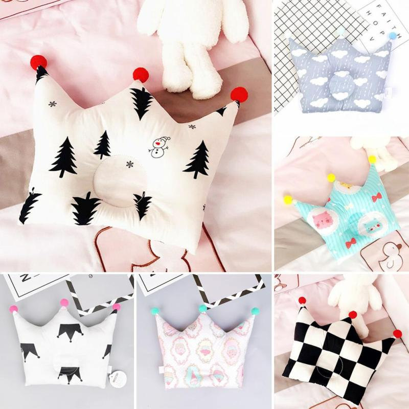 Cotton baby shaping pillow decorative infant head support headrest sleep positioner cushion pillow to prevent flat head Gift B4