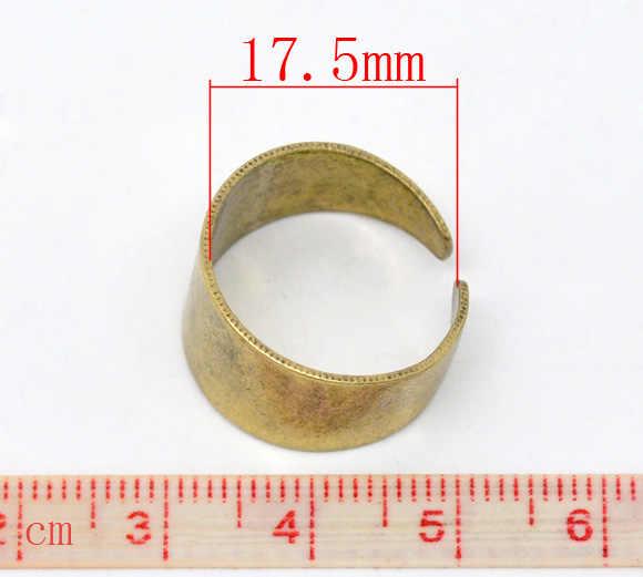 """Anillos no ajustables de cobre tono latón redondo 17,5mm (6/8 """") (EE. UU.), 2 uds. Nuevo"""