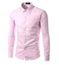 Мужская повседневная рубашка 2016 Camisa Masculina
