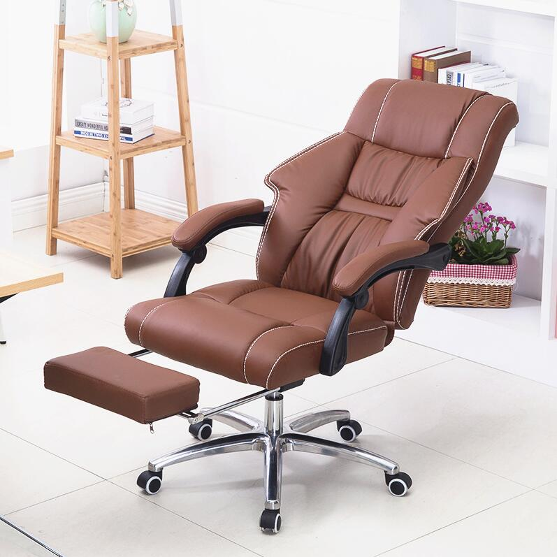 Super Soft Reclining Office Chair Home Leisure Lying Chair Liting Aluminum Alloy Support Boss Chair Computer Swivel Chair boss chair real leather computer chair home massage can lie in the leather chair solid wood armrest office chair 26