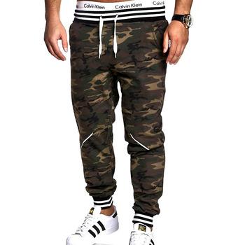 HaiFux spodnie męskie marki Hip Hop spodnie do biegania w stylu Harem spodnie 2018 męskie spodnie męskie biegaczy spodnie kamuflażu spodnie tanie i dobre opinie Na co dzień REGULAR Octan COTTON Pełnej długości Midweight Mieszkanie Suknem Sznurek men pants NONE Full Length piece