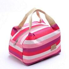 Premium Zipper  Portable 21*14*16cm Picnic Bags lunch Bag Food Picnic Lunch Bags for Women Kids Men Cooler Lunch Box Bag