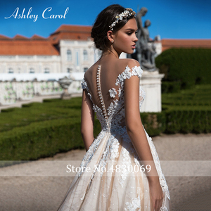 Image 5 - Ashley Carol A Lineชุดแต่งงาน2020 Elegant Sweetheartหรูหราลูกปัดลูกไม้Appliques Tulleเจ้าสาวเจ้าหญิงชุดเจ้าสาว