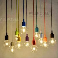 Красочные E27 разъем подвесной светильник Подвеска падения лампы современный Винтаж EDISON ЛАМПЫ Бар Ресторан подвесной светильник