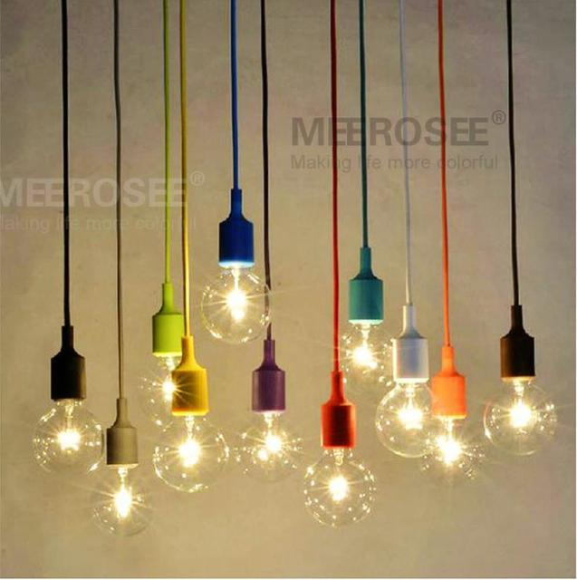 Buy colorful e27 socket pendant light - Lamparas nordicas ...