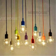 Colorful E27 Socket Pendant Light Suspension Drop Lamp Modern Vintage Edison Bulbs Bar Restaurant Muuto Pendant Lamp